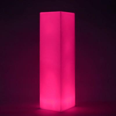 Columna de luz LED multicolor - CUADRADA 109 cm