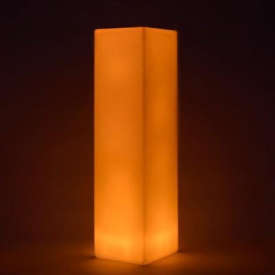 Mehrfarbige LED-Lichtsäule - QUADRAT 109 cm