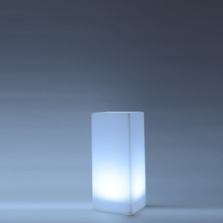 Colonna luminosa LED multicolore - QUADRATA 80 cm