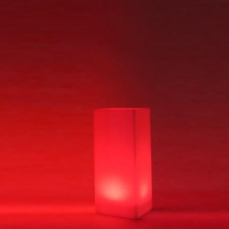 Mehrfarbige LED-Lichtsäule - QUADRAT 80 cm