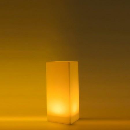 Columna de luz LED multicolor - CUADRADA 80 cm
