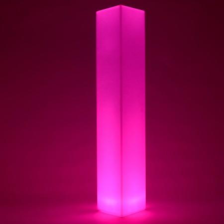 Columna de luz LED multicolor - CUADRADA 180 cm