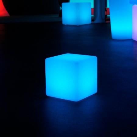 Mehrfarbiger LED-Lichtwürfel - 20 cm