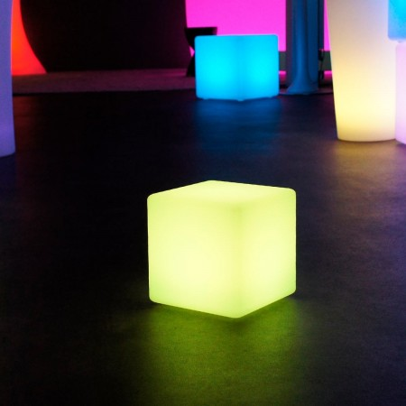 Cube Lumineux à LED Multicolore - 20 cm