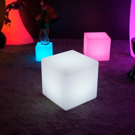Mehrfarbiger LED-Lichtwürfel - 30 cm