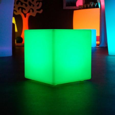 Cubo luminoso LED multicolore - 30 cm