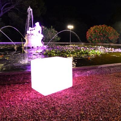 Cube Lumineux à LED Multicolore - 40 cm