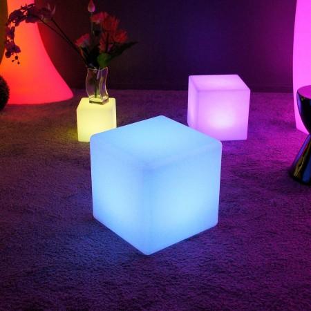 Cubo luminoso LED multicolore - 40 cm