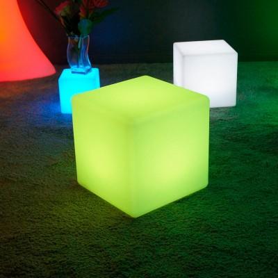 Mehrfarbiger LED-Lichtwürfel - 40 cm