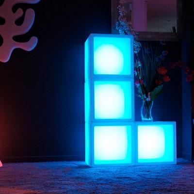 Cubo de luz LED multifunción multicolor - 40 cm