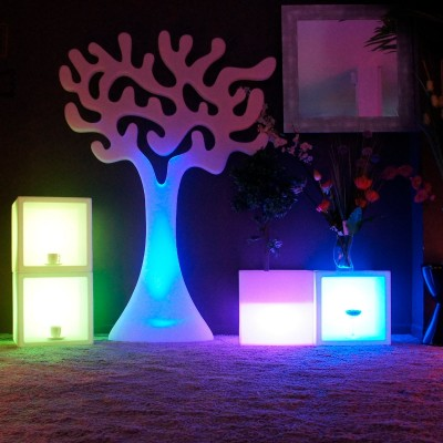 Cubo luminoso multifunzione a LED multicolore - 40 cm