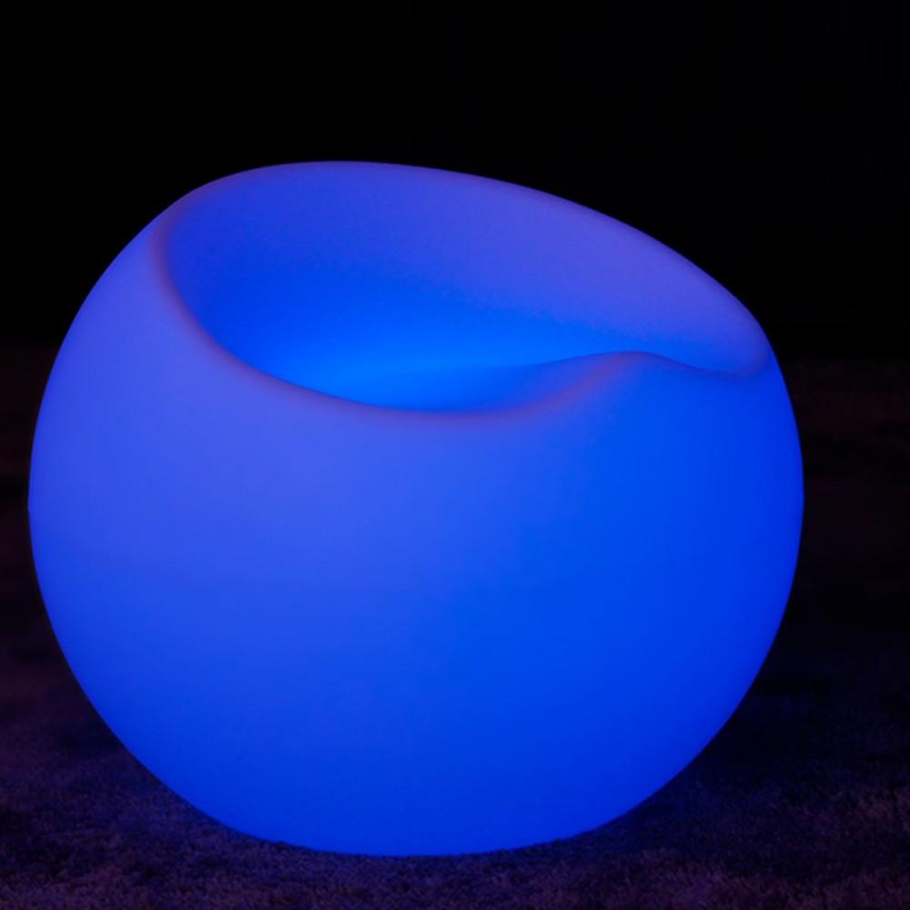 Sedia Drop con illuminazione a LED multicolore
