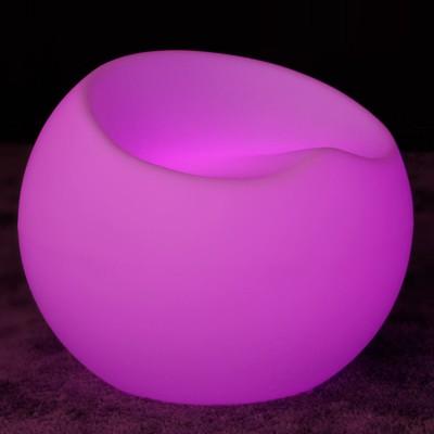 Silla abatible iluminada por LED multicolor
