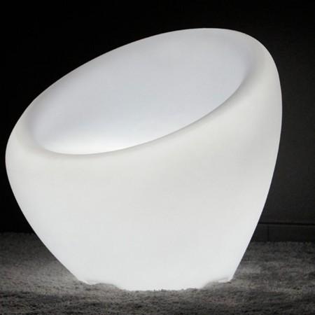 Mehrfarbiger LED-Lichtsessel - KRESLO - 65 cm