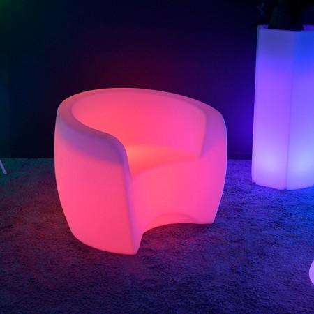 Sillón XL multicolor con iluminación LED