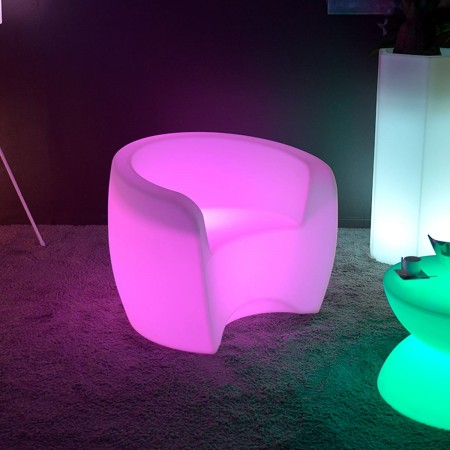 Poltrona illuminata a LED multicolore XL