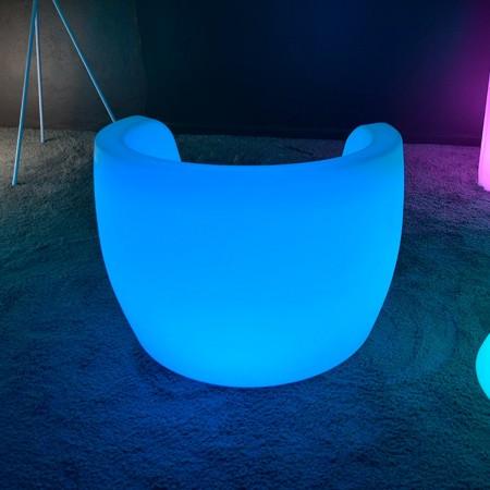 Poltrona illuminata a LED multicolore XL