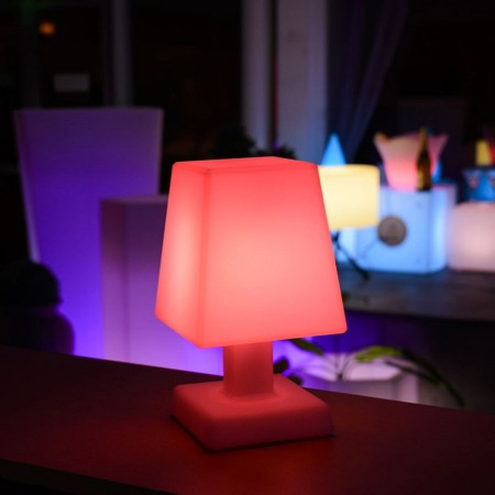 Lampe à poser LED Multicolore - ABA - S SQUARE