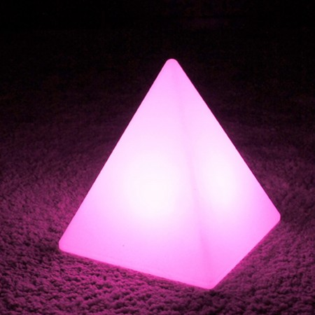 Pyramide Lumineuse à LED Multicolore - PYRAMIS - 28 cm