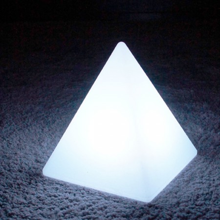 Pirámide de luz LED multicolor - PYRAMIS - 28 cm