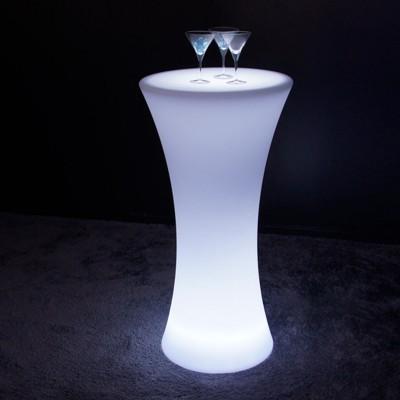 Tavolo alto luminoso LED multicolore - ROTONDO