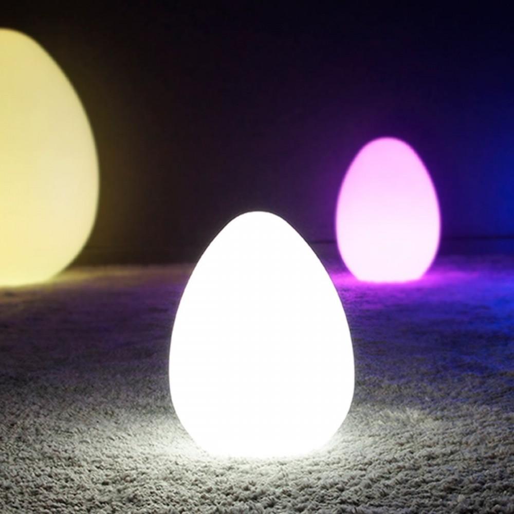 Mehrfarbiges LED-beleuchtetes Ei - JAJKO - 28 cm