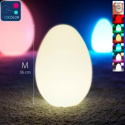 Uovo luminoso a LED multicolore - JAJKO - 36 cm