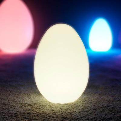 Mehrfarbiges LED-beleuchtetes Ei - JAJKO - 36 cm