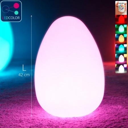 Mehrfarbiges LED-beleuchtetes Ei - JAJKO - 42 cm