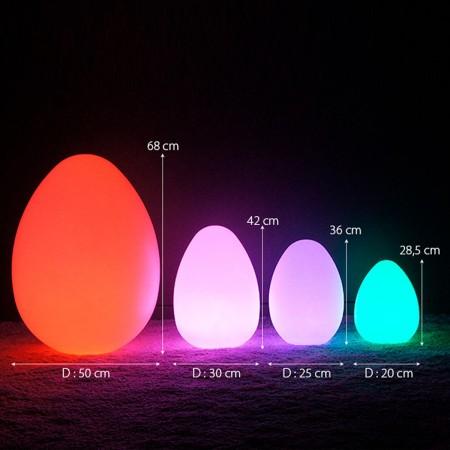 Mehrfarbiges LED-beleuchtetes Ei - JAJKO - 68 cm