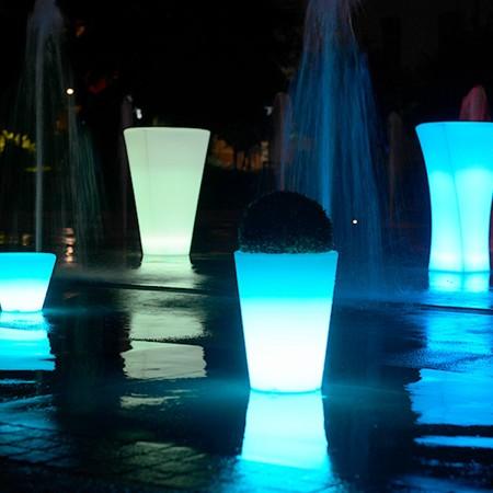 Mehrfarbiger LED-Lichttopf - RUNDE L.