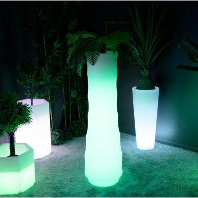 Mehrfarbiger LED-Lichttopf - BAMBUS