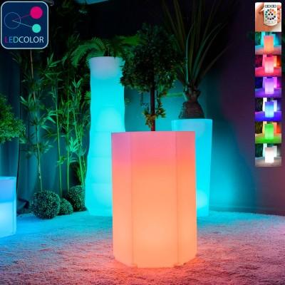 Bote de luz LED multicolor - HEXAGONE M