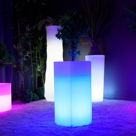 Vaso luminoso a LED multicolore - HEXAGONE M