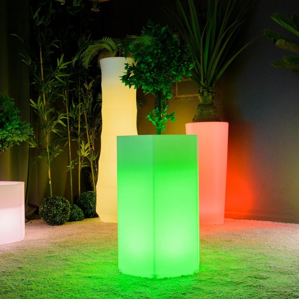 pot lumineux à led multicolore  hexagone m à prix usine