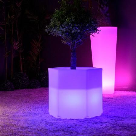 Bote de luz LED multicolor - HEXAGONE S