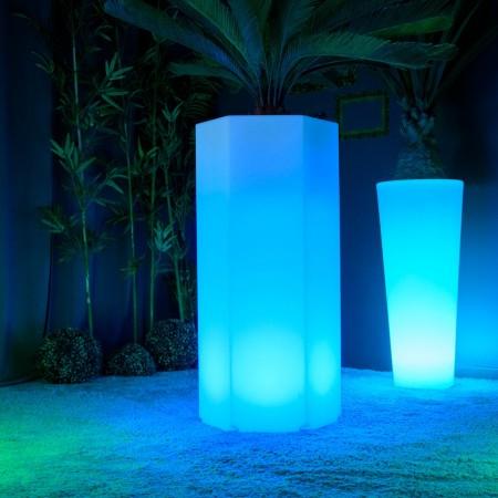 Bote de luz LED multicolor - HEXAGONE XL