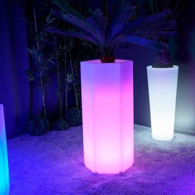Pot Lumineux à LED Multicolore - HEXAGONE XL
