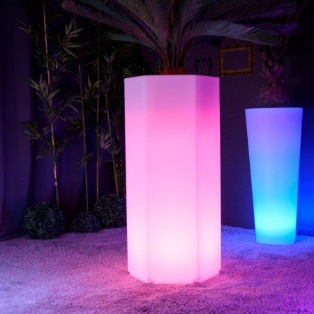Vaso luminoso a LED multicolore - HEXAGONE XL