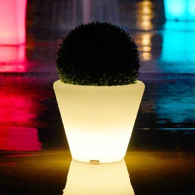 Mehrfarbiger LED-Lichttopf - RUNDE S.