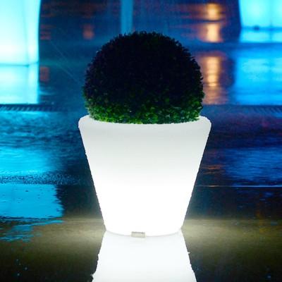 Vaso luminoso a LED multicolore - TONDO S