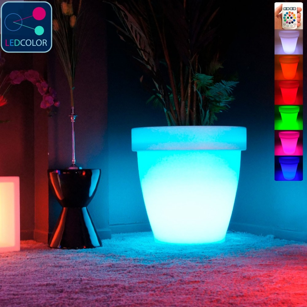 pot lumineux led multicolore round xxl prix usine by. Black Bedroom Furniture Sets. Home Design Ideas