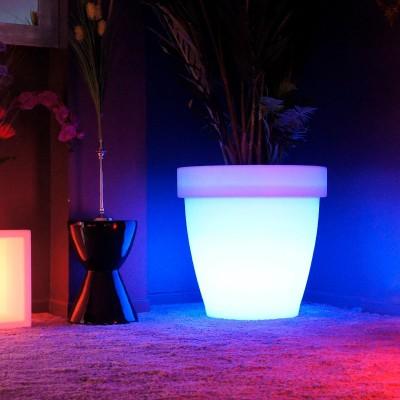 Mehrfarbiger LED-Lichttopf - RUNDE XXL