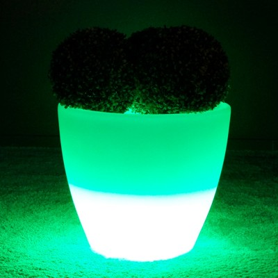 Pot Lumineux à LED Multicolore - SPARK - 45 cm