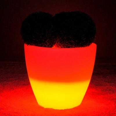 Vaso luminoso a LED multicolore - SPARK - 45 cm