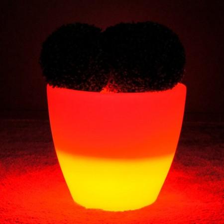 Maceta de luz LED multicolor - SPARK - 45 cm