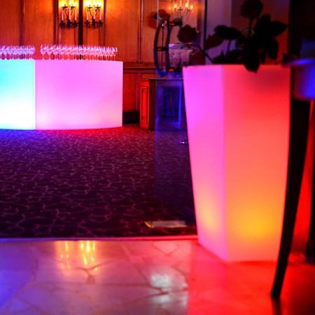 Vaso luminoso a LED multicolore - QUADRATO