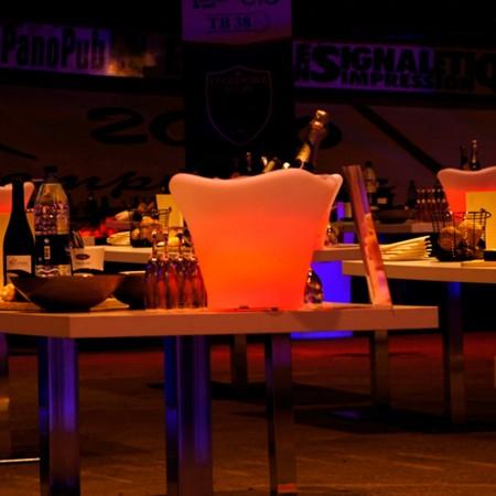 Seau à Champagne Lumineux à LED Multicolore