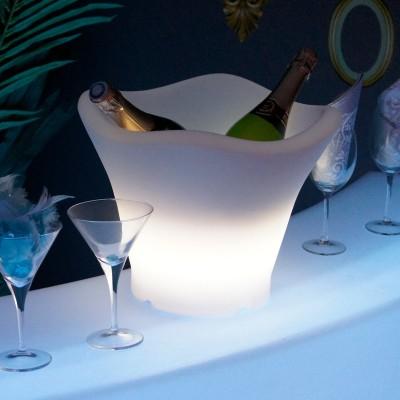 Secchiello per champagne illuminato a LED multicolore