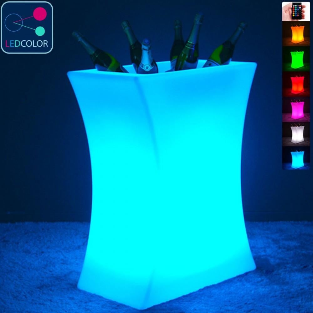 Seau à Champagne Lumineux à LED Multicolore - Hink XXL
